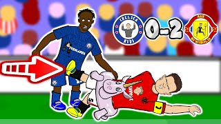 ⚽️Chelsea vs Man United 0-2 - the cartoon!⚽️ (Parody Goals Highlights VAR Maguire Martial)
