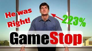 GameStop: 3 Reasons Michael Burry was right! and GME stock price target
