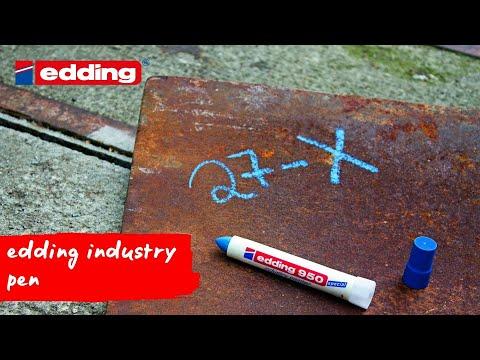 Permanent Marker Edding 950 10mm Rund Hvid 10stk