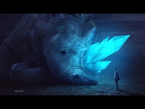glowing rhino photo manipulation effect using adobe photoshop