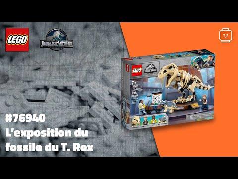 Vidéo LEGO Jurassic World 76940 : L'exposition du fossile du T. Rex