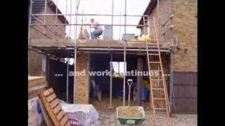 preview picture of video 'How to Build a Two Storey Side Extension in Less Than Thirteen Weeks'