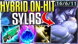 HYBRID ON-HIT SYLAS IS SO BROKEN! BIGGEST HEAL EVER - Sylas Top Gameplay - League of Legends