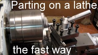 Parting on a Lathe - Fast
