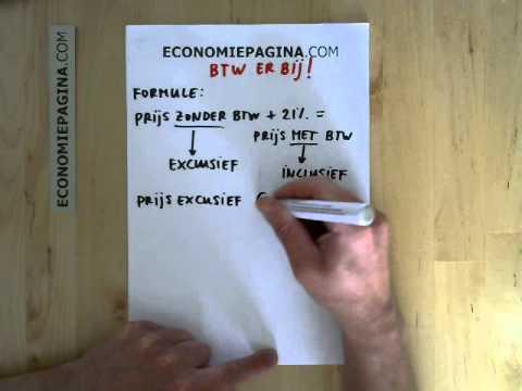 BTW erbij berekenen (Economiepagina.com)