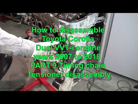 How to disassemble Toyota Corolla Dual VVT-i engine  Part 5 Exhaust