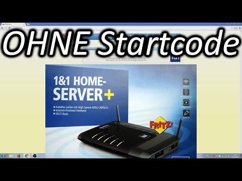 1und1 Fritzbox einrichten ohne Startcode (1&1 Homeserver)