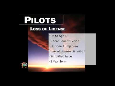 Loss of License Specialty Income Insurance Specifically for Pilots