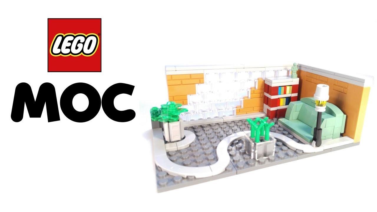LEGO MODERN STYLE READING ROOM! MOC