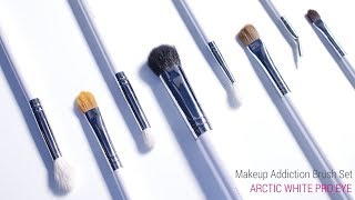 MakeupAddiction ARCTIC WHITE PRO EYE Brush Set