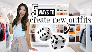 5 Ways To Create NEW OUTFITS From Your Closet!
