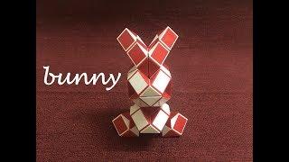Rubik's Snake or Smiggle Snake Puzzle 72 - Bunny