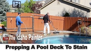 Staining Pool Decks