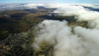 Hubsan H501S Pro за облаками 1500 метров над землёй. Hubsan H501S Pro Altitude 1500 meters.