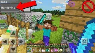 TÜM DÜNYA BU SEEDİ KONUŞUYOR!! Herobrine (Minecraft PE)