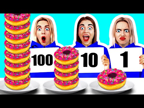 100 खाद्य परतें चुनौती BooBoom Challenge