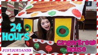 24 Hour Gingerbread House Challenge  JustJordan33