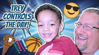 Trey Controls The Day! | Fun Family Activities!