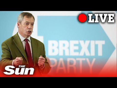 Nigel Farage leads the Brexit Party election campaign in the central London LIVE