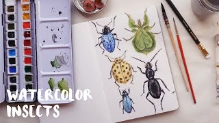 ⋆ Watercolor Insects ⋆ Aquaril 1 ⋆