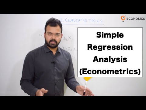 Simple Regression Analysis   Two Variable Linear Regression Equation   Econometrics in Economics