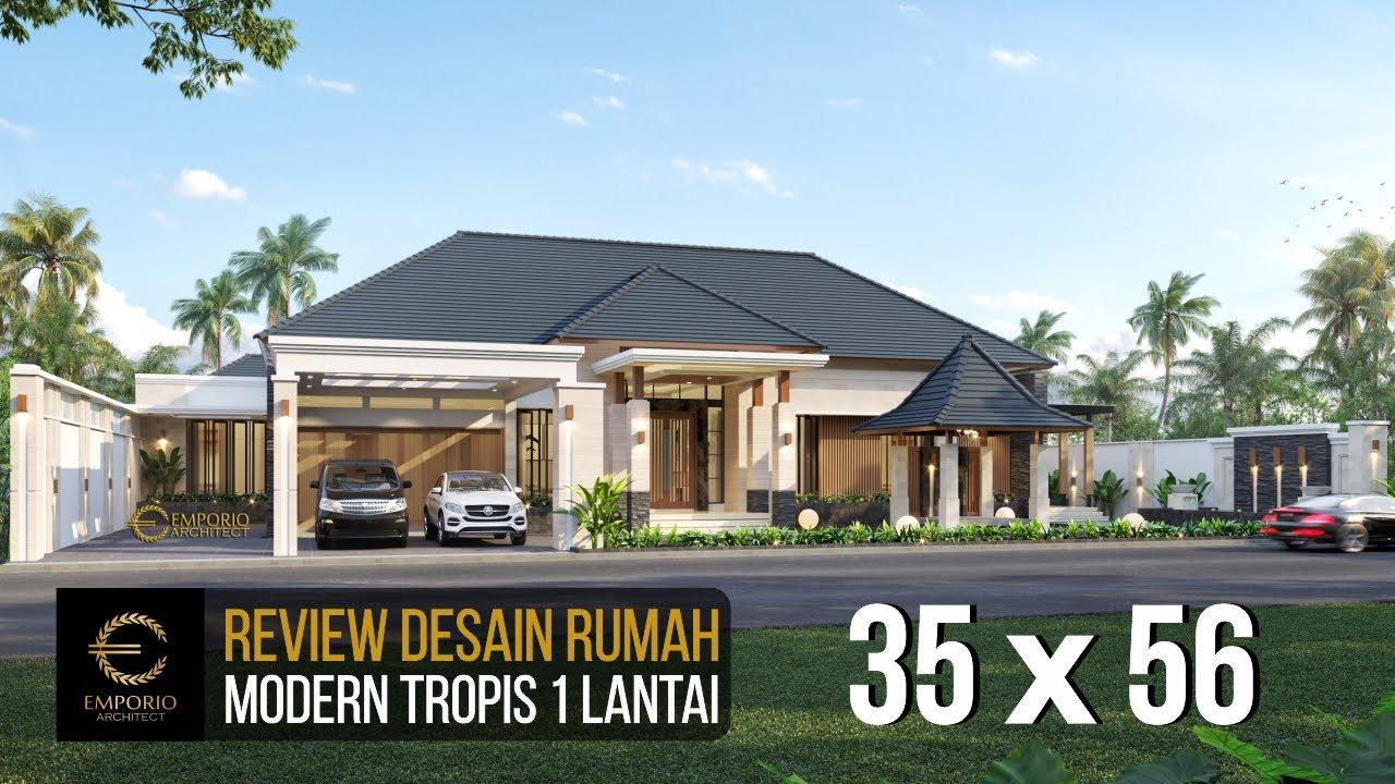Video 3D Mr. Malik Modern House 1 Floor Design - Sragen, Jawa Tengah