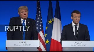LIVE: Trump and Macron hold joint press conference in Paris