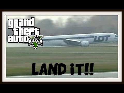 GTA5 Online Challenges  #1 : No Wheels Landing!!
