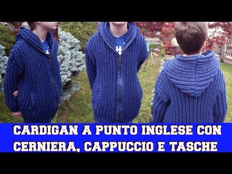 CARDIGAN CON CERNIERA, TASCHE E CAPPUCCIO-  NUNZIA VALENTI