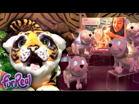 New FurReal Roarin Tyler, Makers Proto Max (New York Toy Fair 2017)