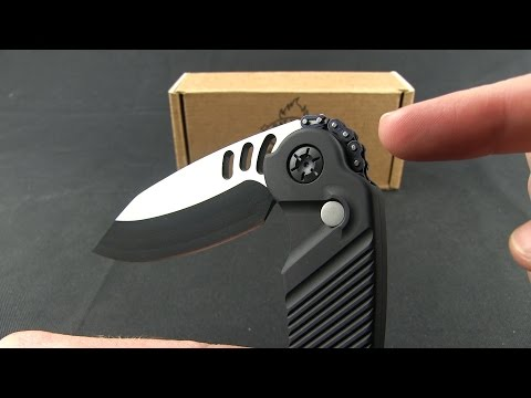 "Rat Worx MRX Mini Tanto Automatic Knife Smooth Black (3"" Two-Tone) 10313"