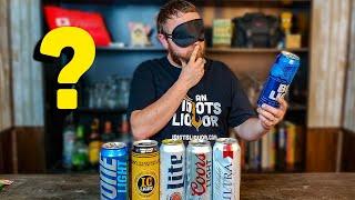 Blindfolded Beer Review - Cheap Light Beer Taste Test. The Winner SHOCKS ME.