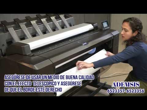 PLOTTER HP DesignJet T930, T1530, and T2530 ✅ Cómo cargar un rollo de papel ? Ademsis Plotter ✅