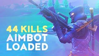 44 KILLS - AIMBOT LOADED! (Fortnite Battle Royale - Dakotaz)