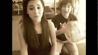 5 minute total body workout. best friends. Ariana Grande and Aaron Simon Gross :)