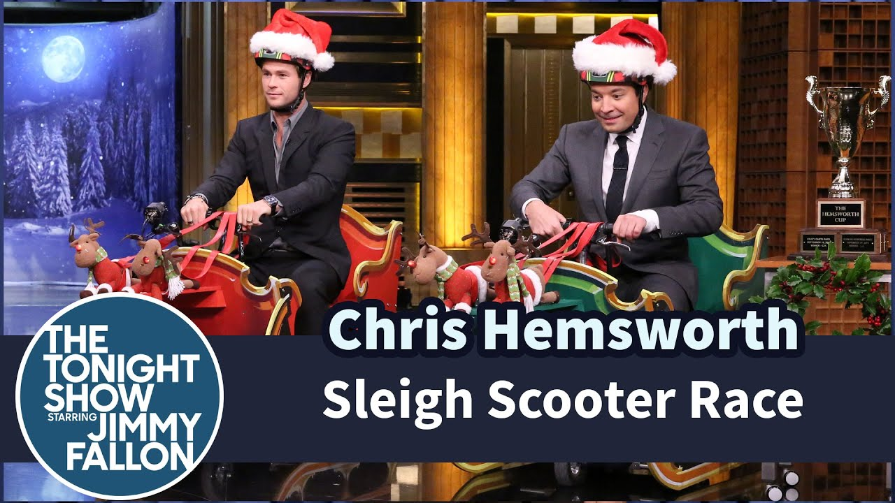 Sleigh Scooter Race with Chris Hemsworth thumbnail