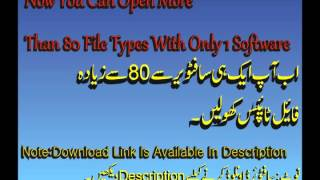 preview picture of video 'How To Open More Than 80 File Types With 1 Software,English|Urdu|Hindi Tutorial'