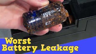 Worst battery leakage I