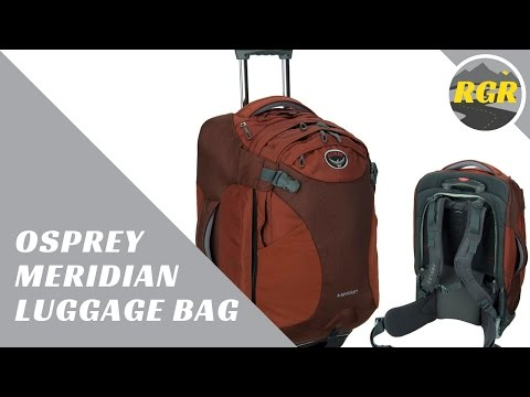 Osprey Meridian  | Product Review | Luggage Backpack With Wheels and Daypack (2 Bags in One)