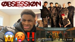 AMERICAN FIRST TIME REACTING TO K POP😱‼️| EXO - 'Obsession' MV (Reaction)