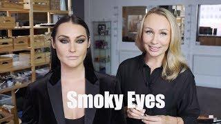 Макияж Smoky Eyes / Как сделать эффектные вытянутые коричневые смоки айс.
