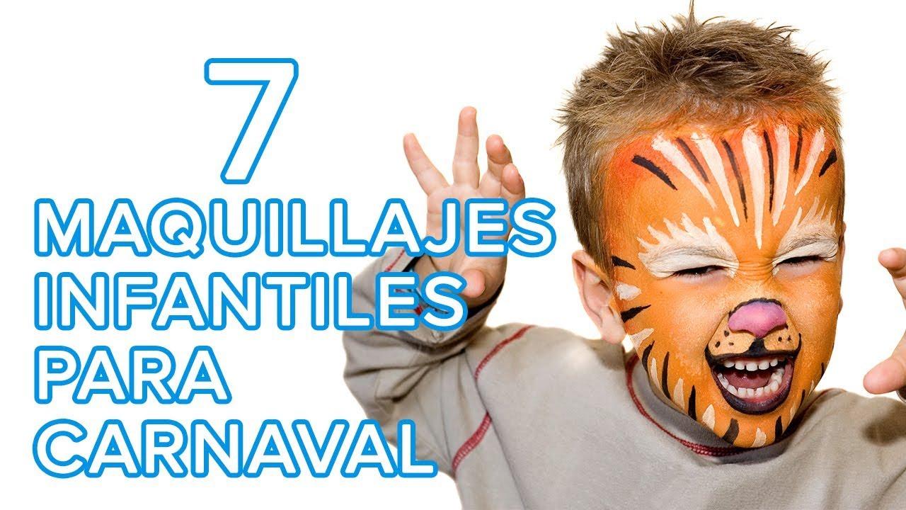 7 Maquillajes infantiles muy fáciles para carnaval | Ideas para maquillar a niños