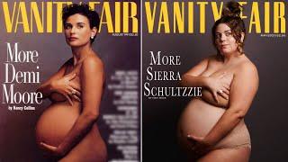 Recreating Iconic Celebrity Maternity Photos