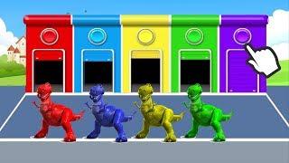 Динозавр Учим цвета на английском Мультики Мультфильмы смотреть 2017