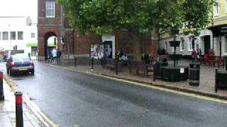 preview picture of video 'Main Square in Bridport where entertainment happens but not in the RAIN'