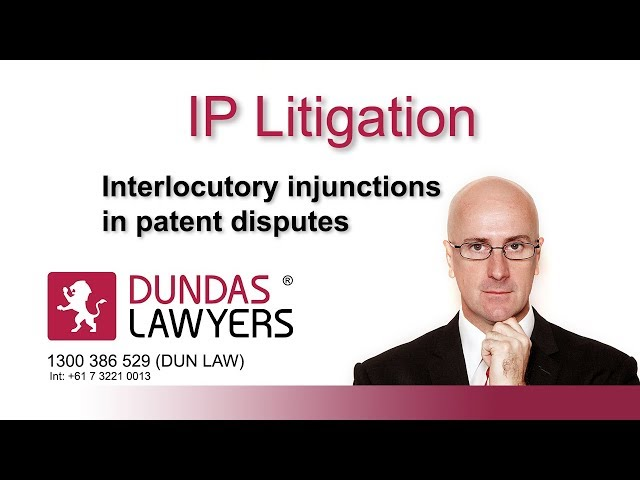 Interlocutory injunctions in patent disputes an introduction