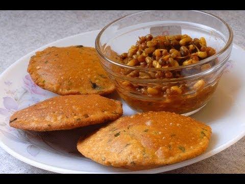 BHAJANICHE VADA Maharashtrian roasted multigrain special poori