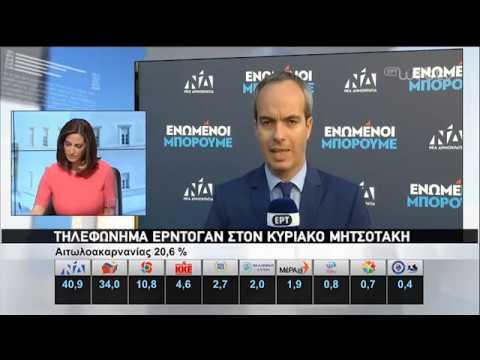 Τηλεφώνημα Ερντογάν στον Κ. Μητσοτάκη | 07/07/2019 | ΕΡΤ