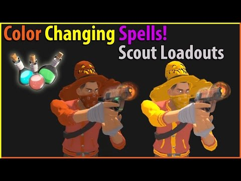 Tf2 Amazing Color Changing Spells Sniper Spy Loadouts