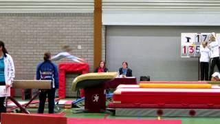 Oefening sprong 1 Brabantse kampioenschappen N1 3 maart 2013 Oss